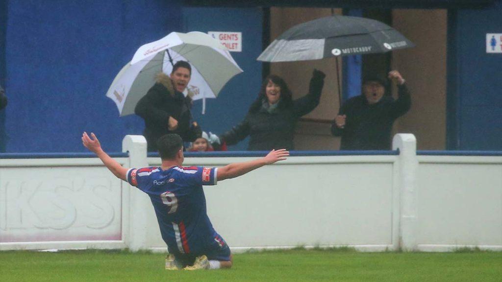 Joey Butlin celebrates. Picture: Dave Birt