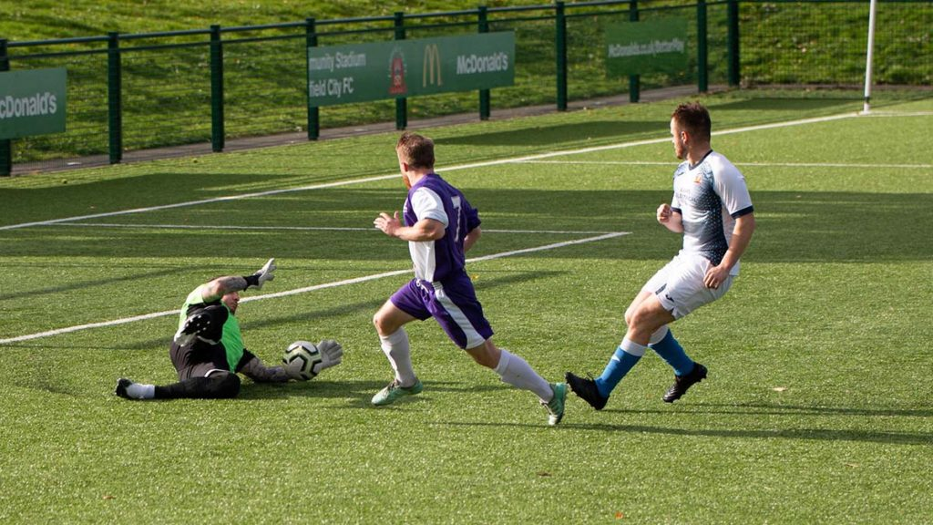 Action from Lichfield City's game against Cadbury Athletic. Picture: Nigel Lord