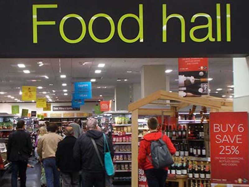 A Marks and Spencer food hall. Picture: Tony Monblat