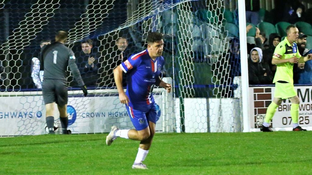 Joey Butlin celebrates his goal. Picture: Dave Birt