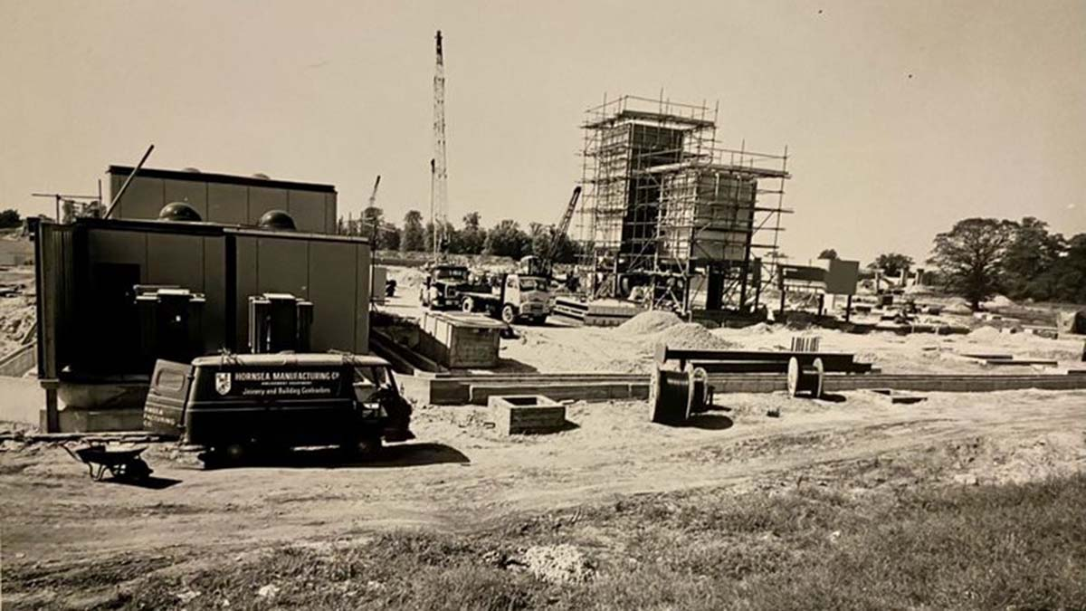 The compressor being built more than half a century ago