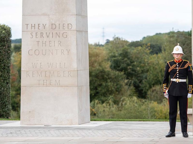 The service taking place at the Armed Forces Memorial