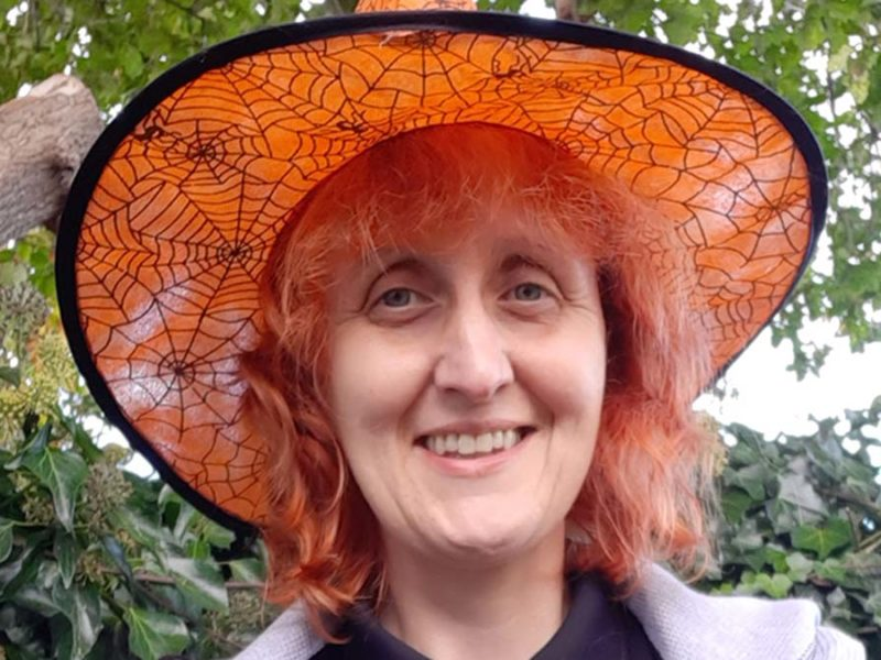 Lichfield District Council's community and education officer Ruth Piddington launching the Halloween trail