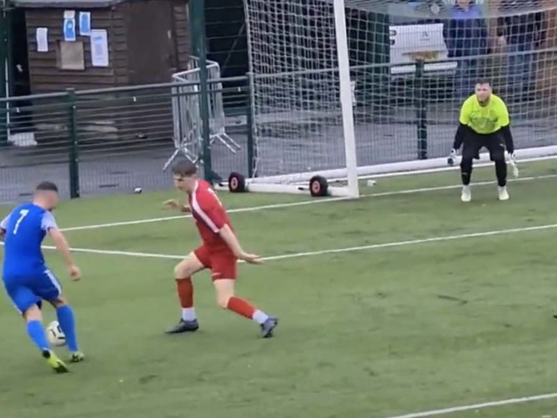 Action from Lichfield City v Stafford Town