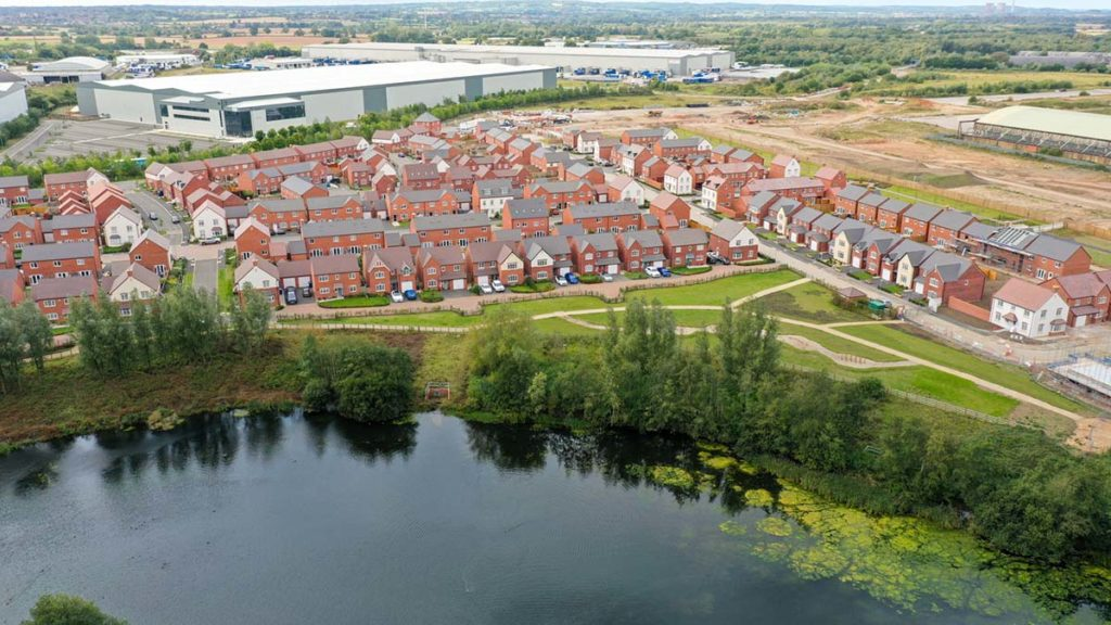 The Sheasby Park development in Fradley