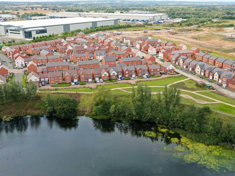 The Sheasby Park development in Fradley