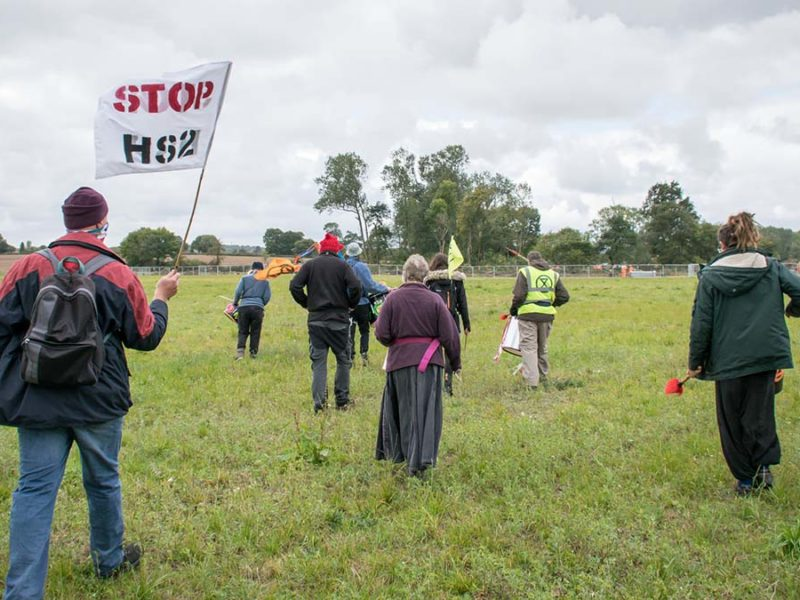 Protesters in Lichfield
