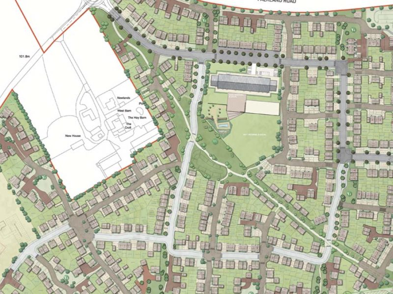 A layout of the new site submitted as part of the planning process