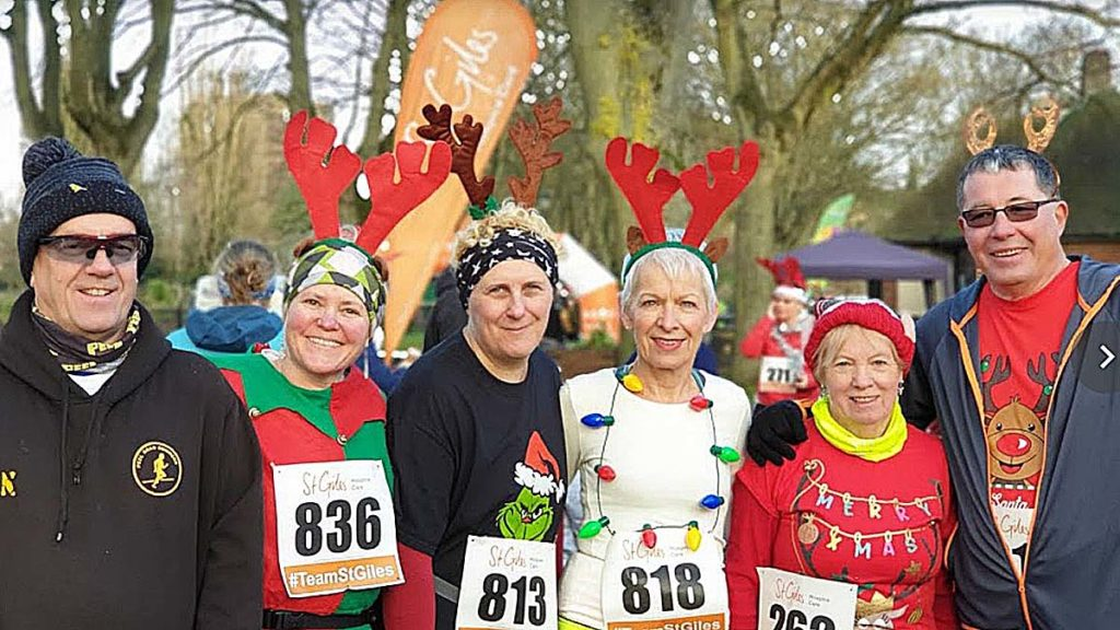People taking part in the 2019 Rudolph Run