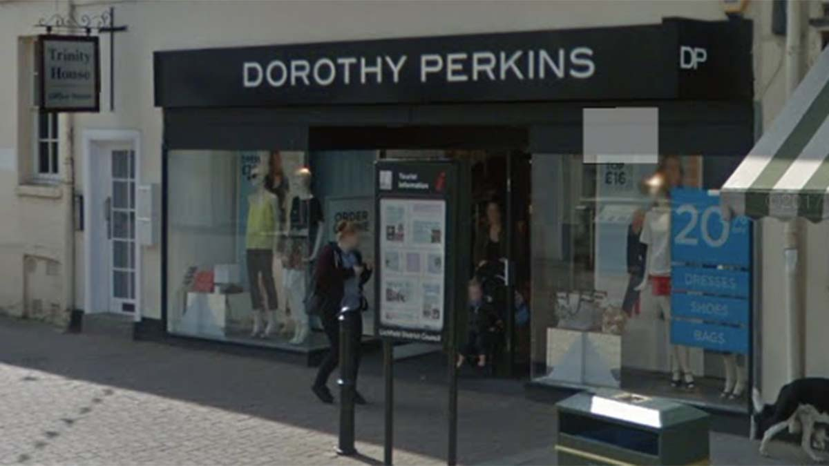 The Lichfield branch of Dorothy Perkins. Picture: Google Streetview