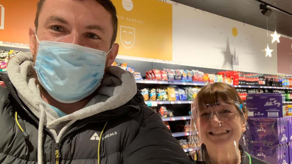 Chris Day with his mum Julia in the new store