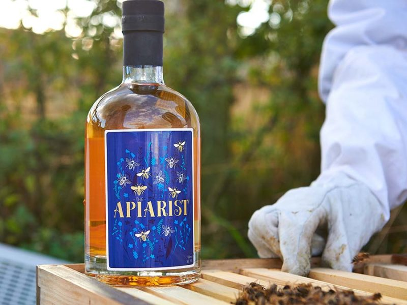 A bottle of The Apiarist gin