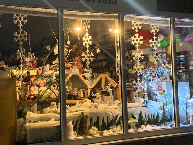A festive shop window in Burntwood