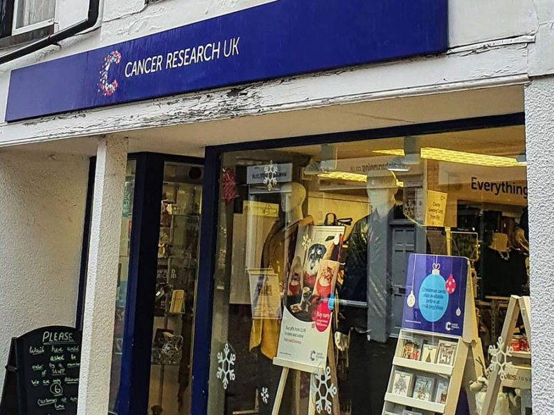 The Cancer Research UK shop in Lichfield