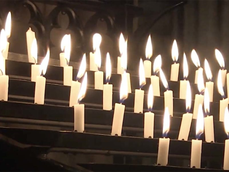 Candles at Lichfield Cathedral