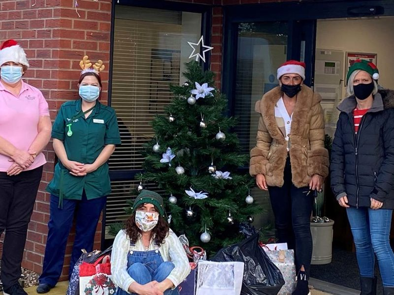 Presents being delivered to The Spires care home