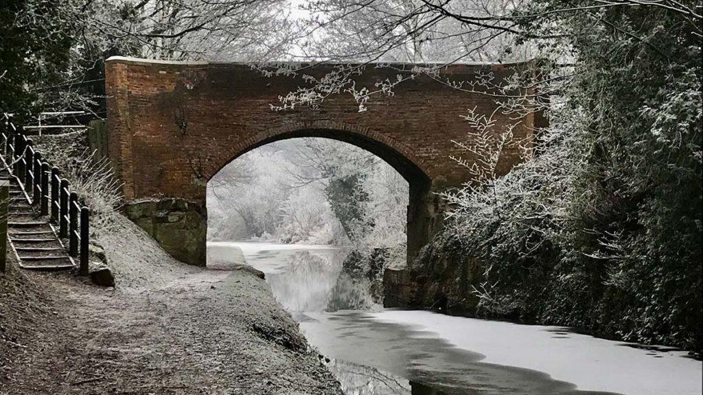 Canal Bridge in the Snow - Liz Thomas
