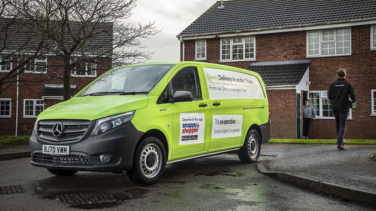 One of the new Central England Co-op home delivery vans