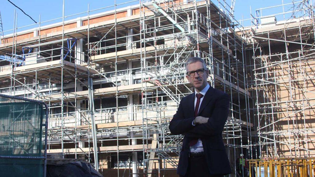 Glyn Langston-Jones outside the new building