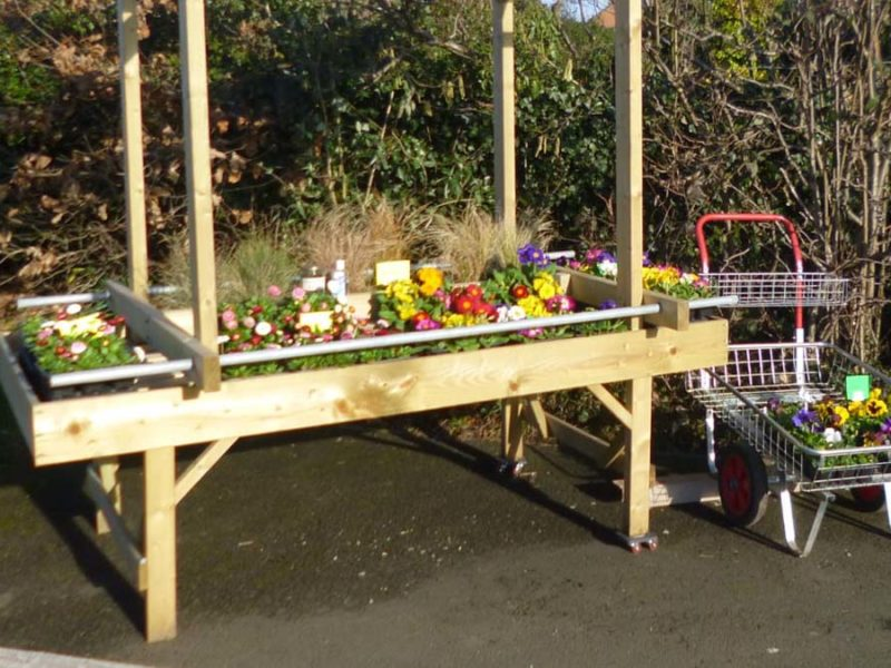 The pop-up stall. Picture: Cherry Orchard Garden Service