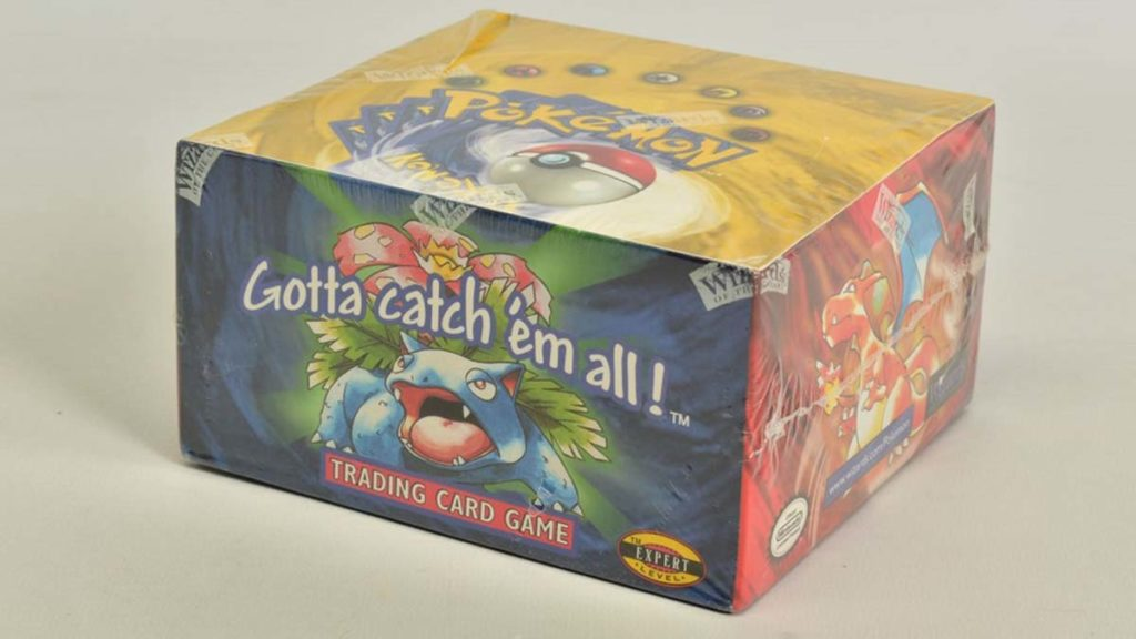 The unopened booster box