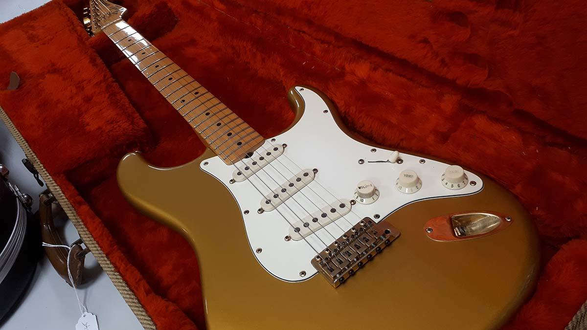 The Fender Stratocaster Gold on Gold