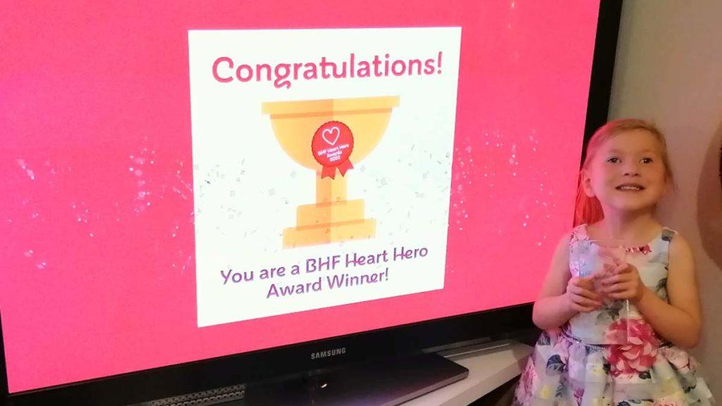 Sophia Marshall who won a 2020 Heart Hero award