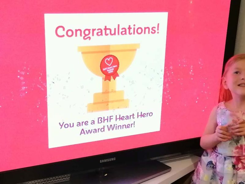 Sophia Marshall who won a 2020 Heart Hero award