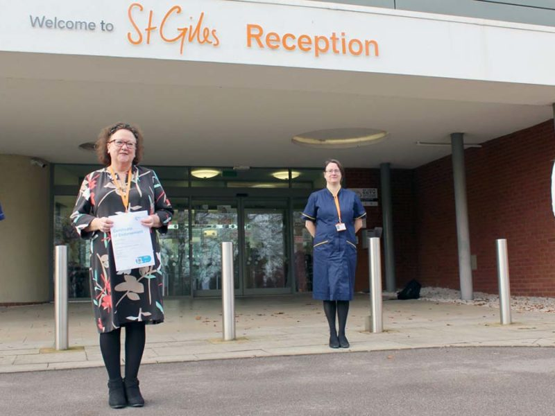 Practice educator and development nurse practitioner Kelly Boden, head of education and training Theresa Barker, head of clinical education and quality Toni Flanagan and practice educator Kari Burton