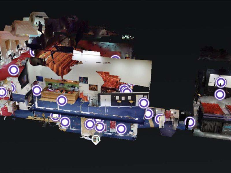 Part of the digital tour of the Lichfield Garrick