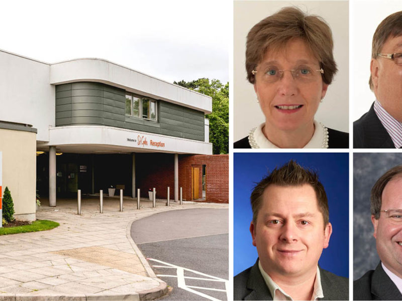 New St Giles Hospice trustees (clockwise from top left) Cath Finn, Paul Jennings, Simon James and Robin Vickers