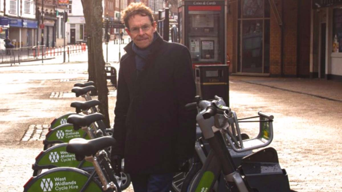 Andy Street launching the BikeShare scheme in Sutton Coldfield