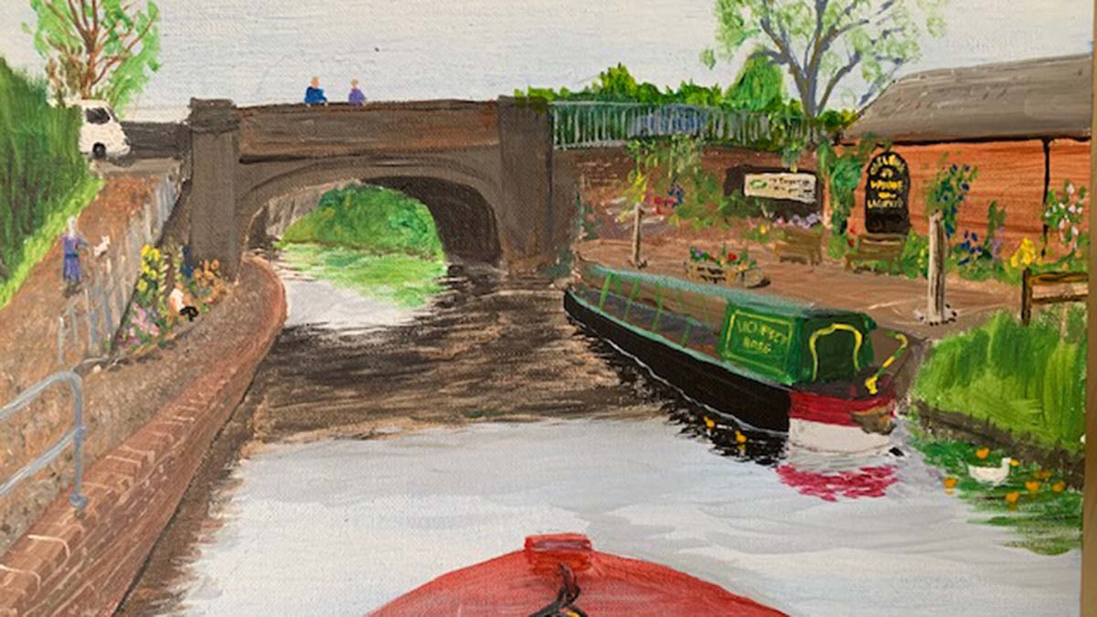 The painting of Gallows Wharf
