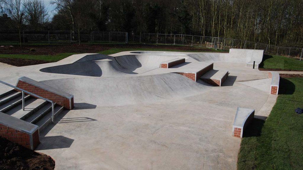 The skatepark at Beacon Park