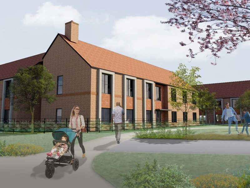An artist's impression of the new Bowbrook centre at Fradley