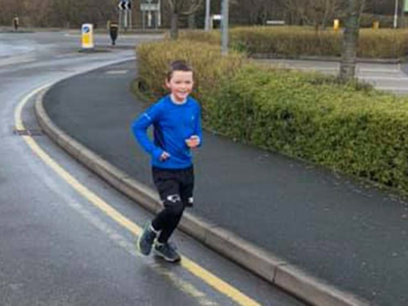 Carter Chatting on his fundraising run