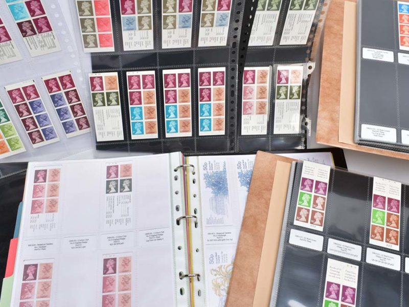 Some of the stamps being sold at auction