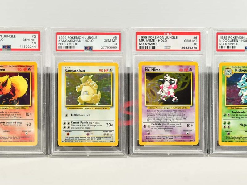 Some of the Pokemon cards sold at auction in Lichfield