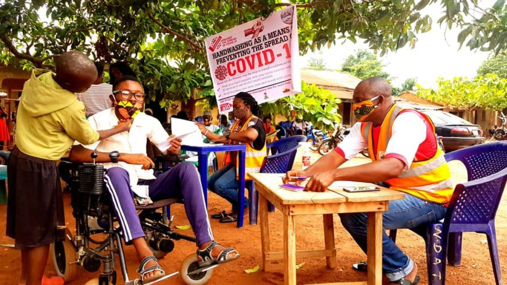 A Christian Aid coronavirus project in Nigeria