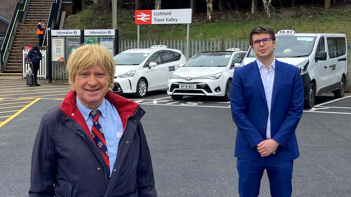 Michael Fabricant MP with Jonny Wiseman at Lichfield Trent Valley