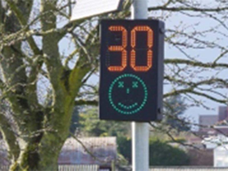 A digital speed indicator