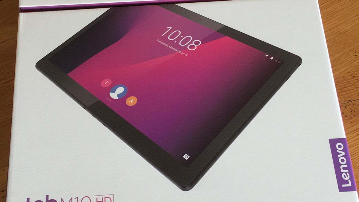 One of the tablets being distributed by Shining Stars