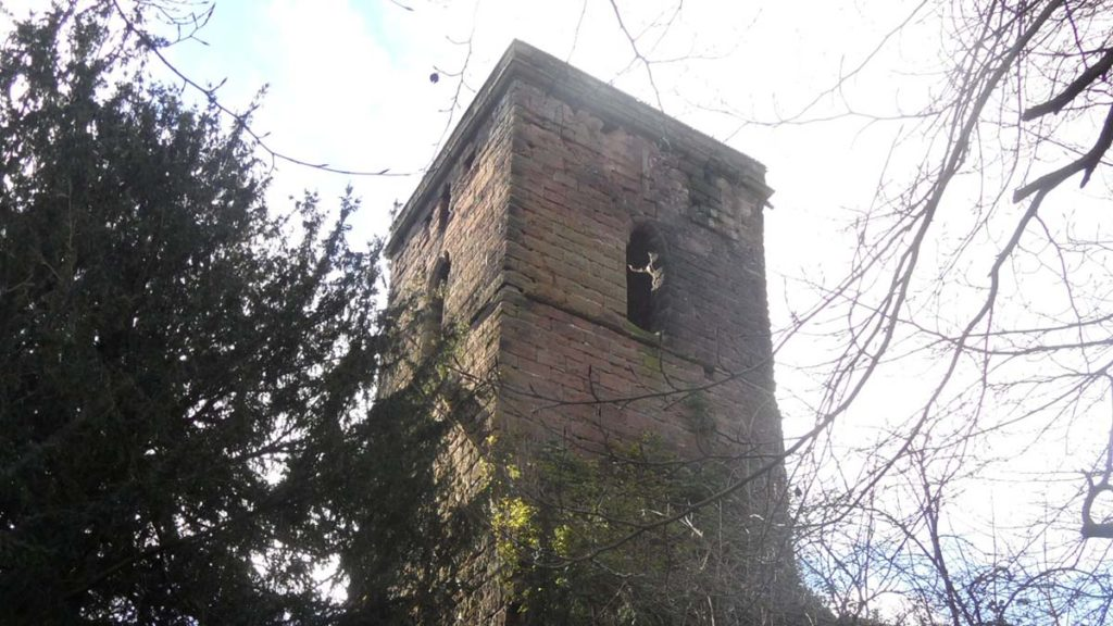 The old church tower in Shenstone. Picture: Lichfield Lore