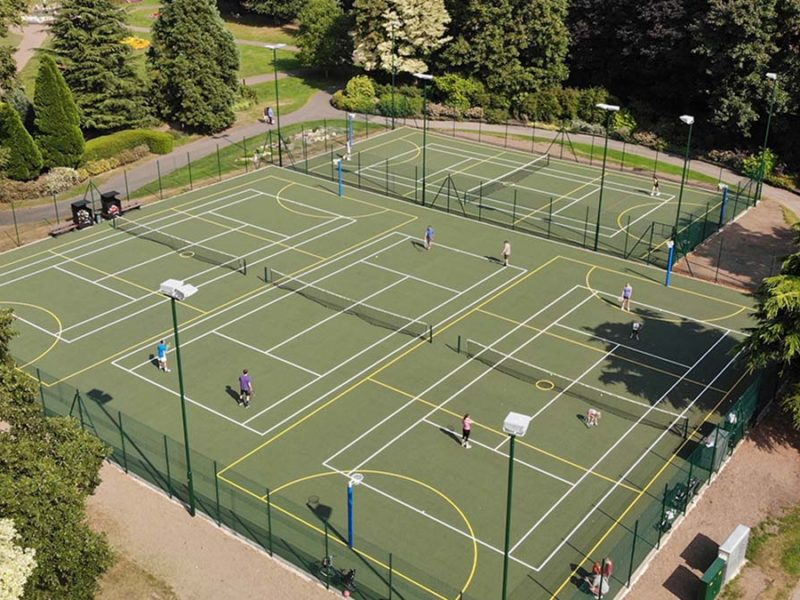 The tennis courts at Beacon Park
