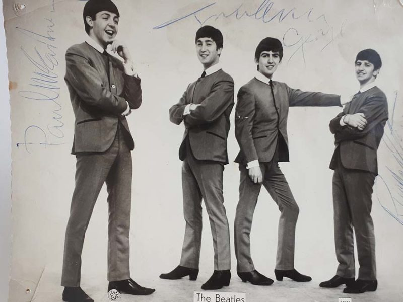 The signed photograph of The Beatles