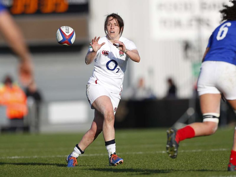 Katy Daley-McLean in action for England