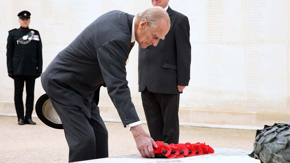 Prince Philip during a visit to the National Memorial Arboretum