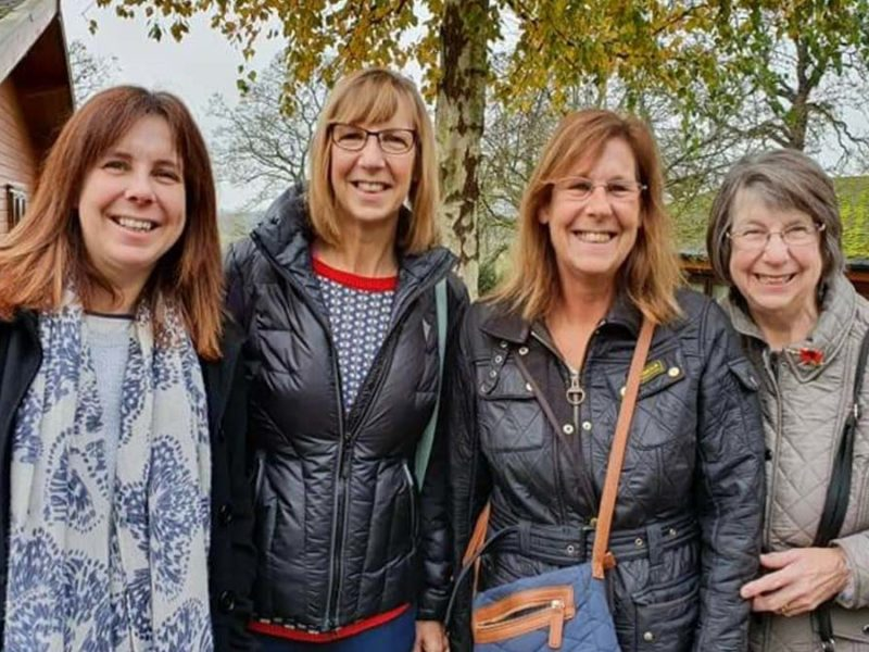 Paula Young, Andrea Fiford, Jan Hughes and Carole Dyson
