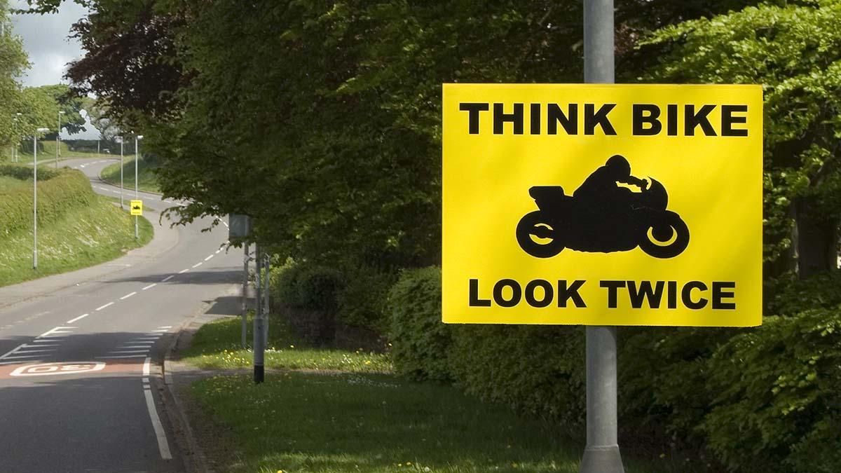 A 'Think Bike' sign