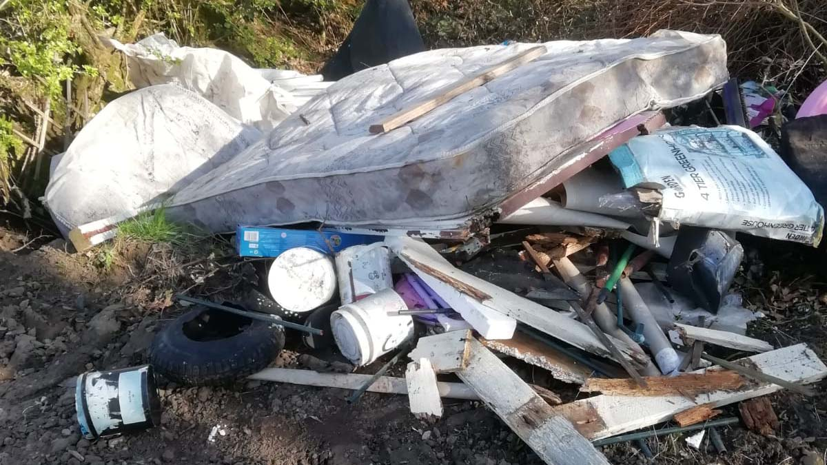 Rubbish dumped in Chorley